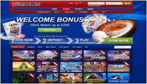 Vernons Casino Sign Up Bonus 2020 Screenshot